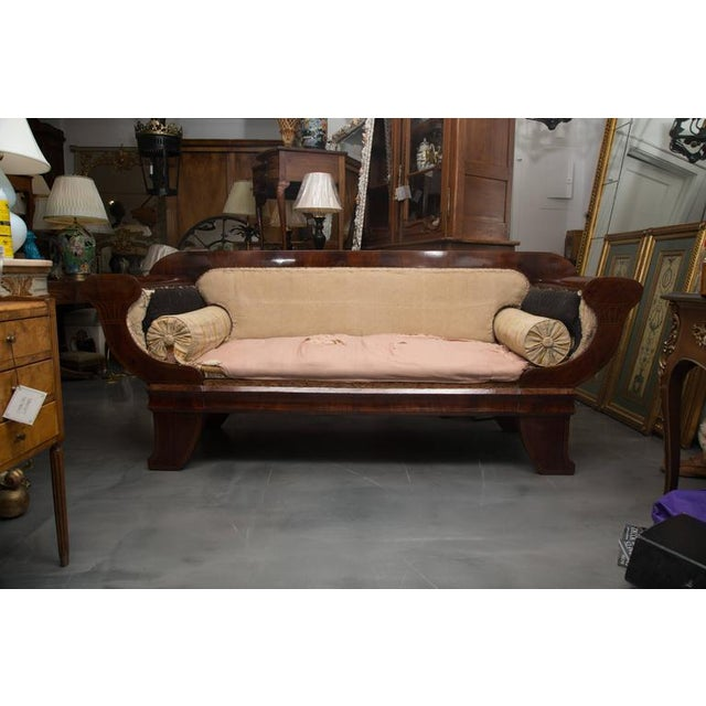 Mid 18th Century 19th Century Mahogany Biedermeirer Sofa For Sale - Image 5 of 10