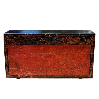 19th Century Antique Mongolian Chest Table For Sale