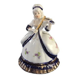 Vintage Victorian Blue and White Porcelain Figurine