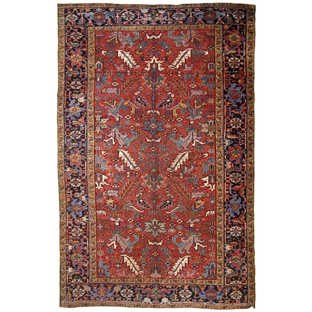 1900s, Handmade Antique Persian Heriz Rug For Sale - Image 12 of 12