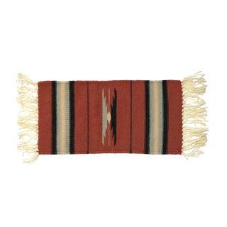 Vintage Wool Southwestern Table Runner For Sale