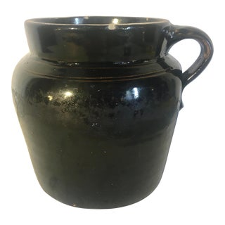 19th Century Antique Stoneware Baked Bean Jar For Sale