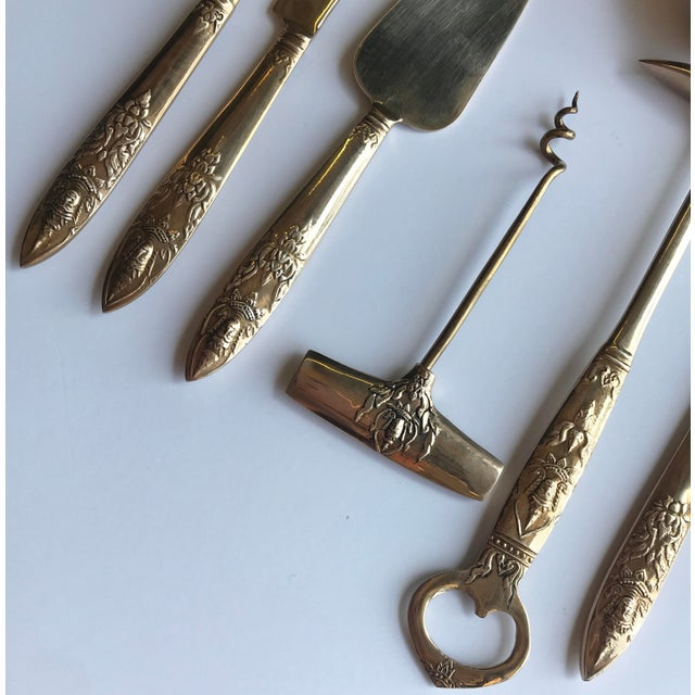 Boho Chic Vintage Bar Tools, Set of 7 For Sale - Image 3 of 4