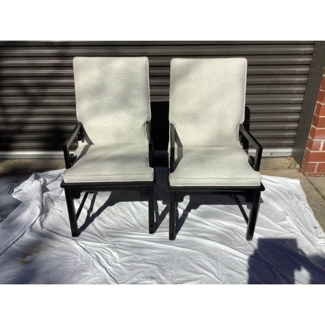 1970s Greek Key Arm Chairs by Century, a Pair For Sale - Image 10 of 12