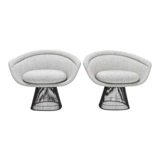 Pair of 1960s Bronze Warren Platner Lounge Chairs For Sale