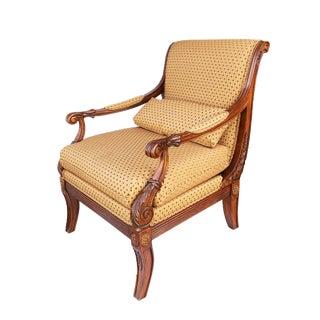 """Elegant Ethan Allen Regency """"Roma"""" Chair 37""""h For Sale"""