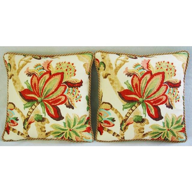 Custom Schumacher Kelmscott Manor Pillows - A Pair - Image 3 of 11