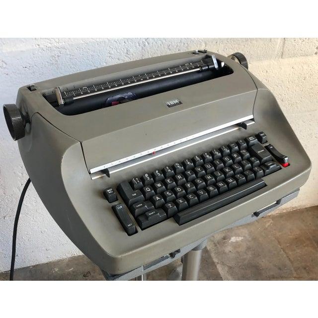 Industrial Vintage Ibm Selectra I Electric Typewriter For Sale - Image 3 of 7