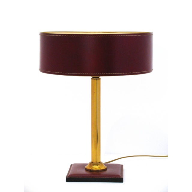 Jacques Adnet Leather-Clad Table Lamp - Image 2 of 8