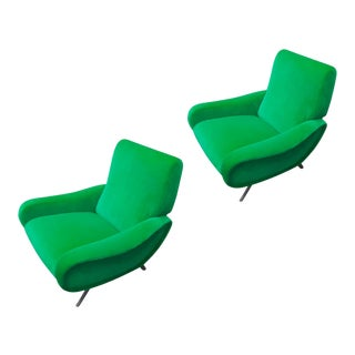 "Marco Zanuso Pair of Model ""Lady"" Arm Chair For Sale"