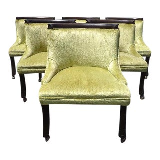 Erwin Lambeth Tomlinson Club Slipper Chairs - Set of 6