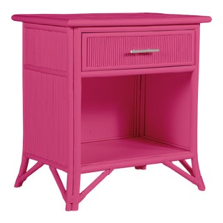 Aruba One-Drawer Nightstand - Bright Pink For Sale