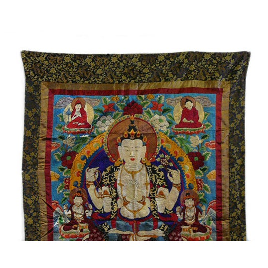 Embroidery Tibetan Tara Buddha Thangka Art - Image 5 of 10