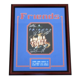 Contemporary Framed Friends Picture Signature Autograph Aniston Cox Kudrow Perry For Sale