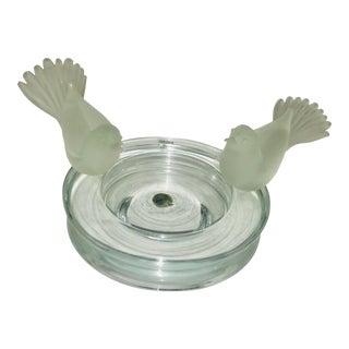 1980s R. Anatra Birds Murano Bowl Glass Italy For Sale