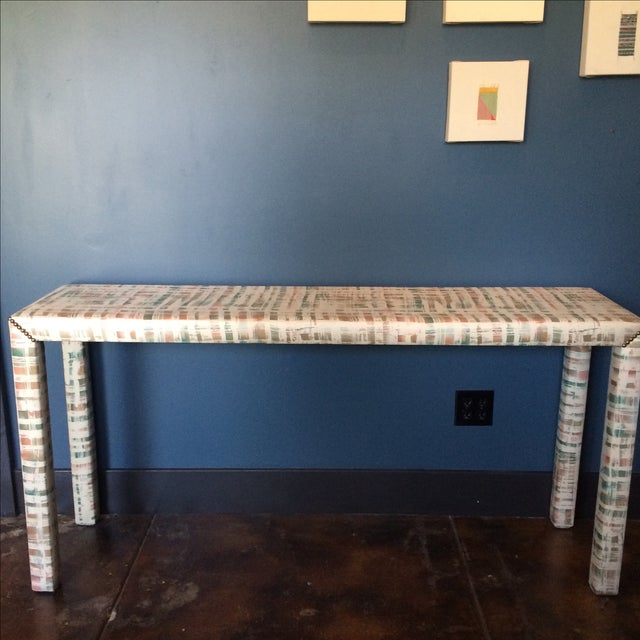 Upholstered Sofa Table - Image 3 of 11