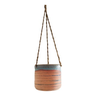 Vintage Handmade Pottery Hanging Planter