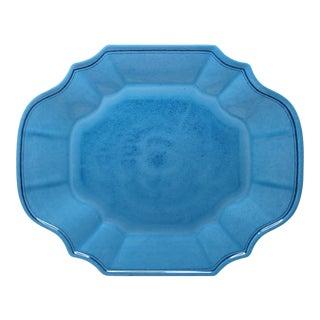 "Terra Blue 16"" Melamine Oval Platter, Set of 2 For Sale"