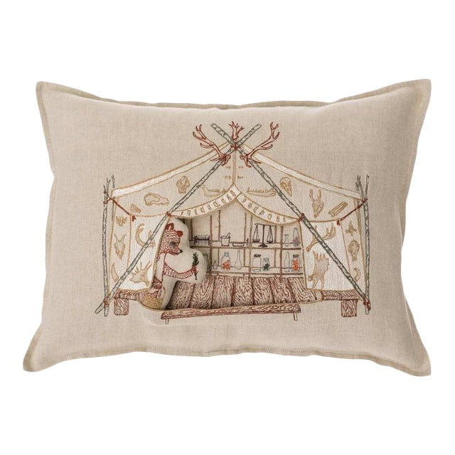Bear Apothecary Tent Pocket Pillow - Image 1 of 6