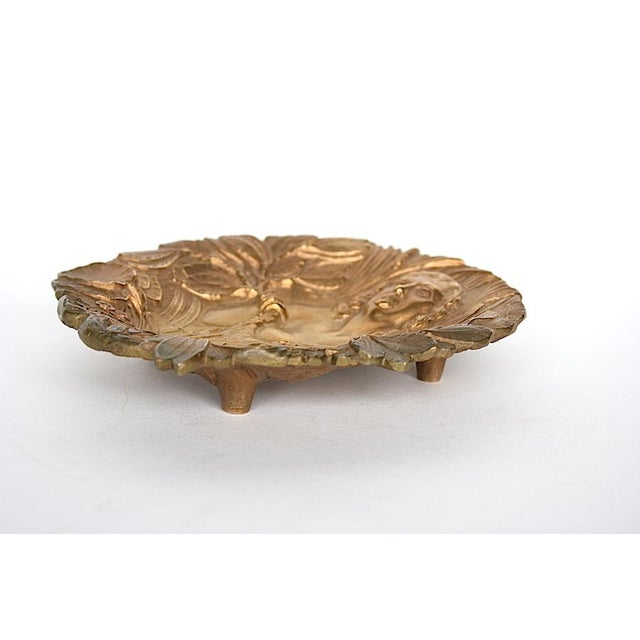 Late 19th Century Bronze Art Nouveau Trinket Tray For Sale - Image 5 of 9