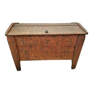 19c Eastern European Shepherds Coffer or Chest For Sale