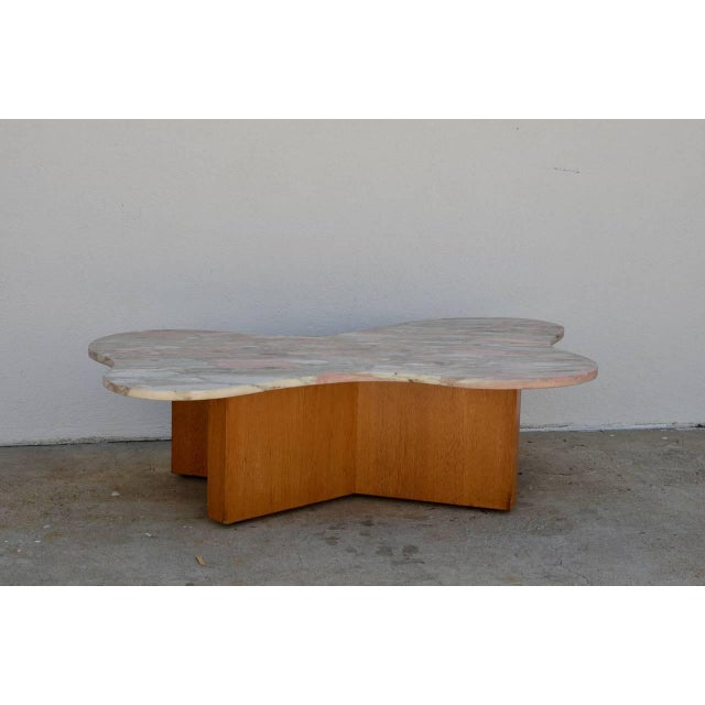 1970s Flowing Free-Form Marble 1970s Coffee Table For Sale - Image 5 of 5