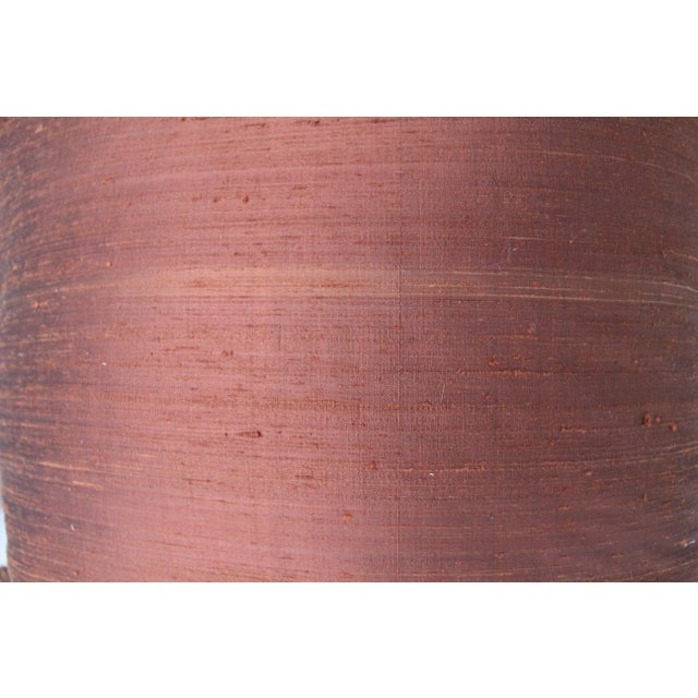 Isabelle H. Fortuny Style Burnished Russet Silk Tasselled Pillow - Image 8 of 8
