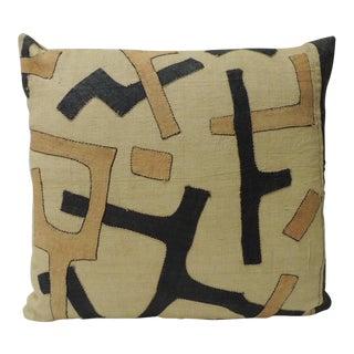 Vintage Kuba Squares Patchwork African Artisanal Textile Decorative Pillow