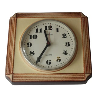1960s Ceramic Dugena Kitchen Wall Clock For Sale