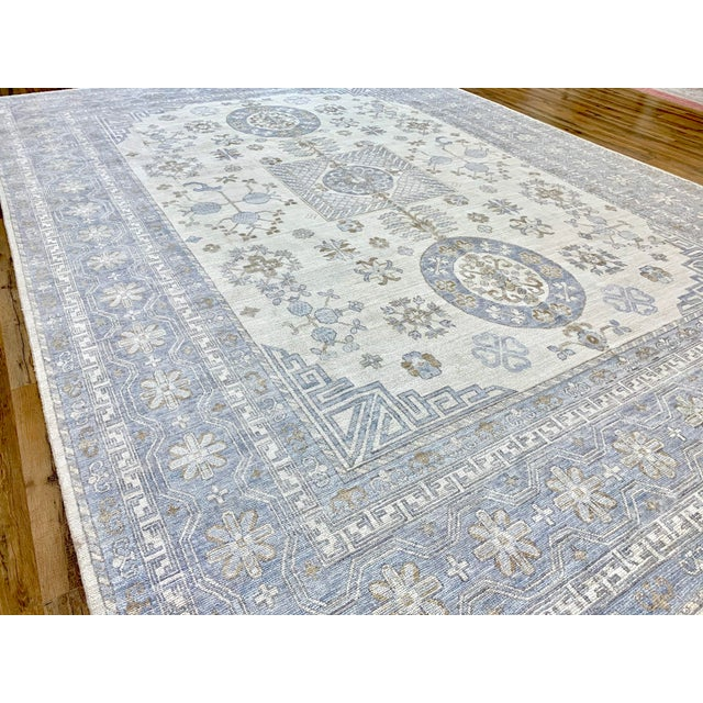 2020s Ivory Field Khotan Rug- 10'x14' For Sale - Image 5 of 13