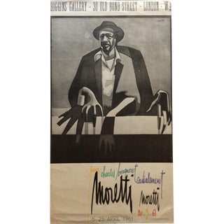 Raymond Moretti Original Vintage Art Exhibition Poster For Sale