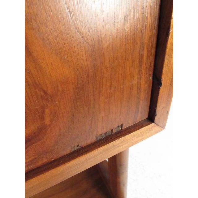 Brown Freestanding Vintage Walnut Bookshelf For Sale - Image 8 of 11
