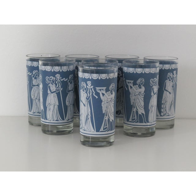Highball Glasses w/ Grecian Motifs - Set of 8 - Image 4 of 5