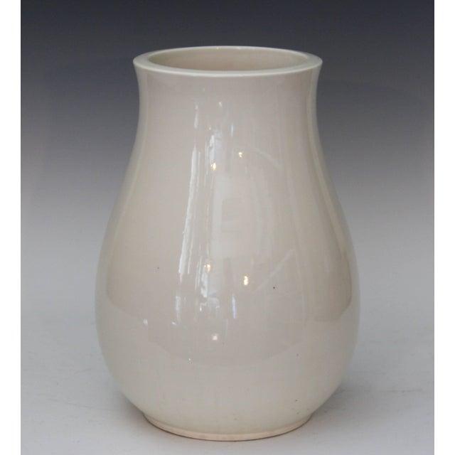 Art Nouveau Antique Japanese Carved Studio Blanc De Chine Porcelain Vase For Sale - Image 3 of 11