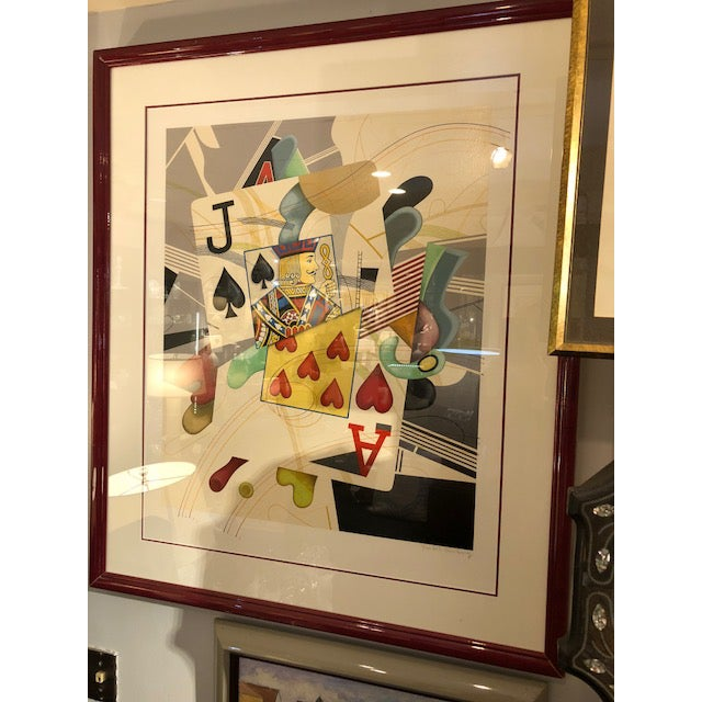 Excellent ''Black Jack' print signed by Yankel Ginzburg - such a fun piece of art - or how about a great gift for the one...