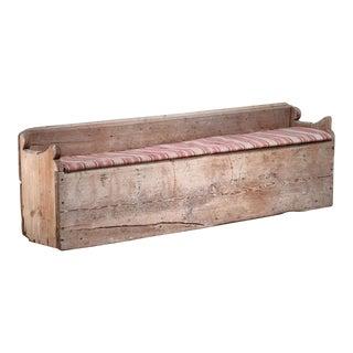19th Century Pine Storage Bench, Sweden For Sale