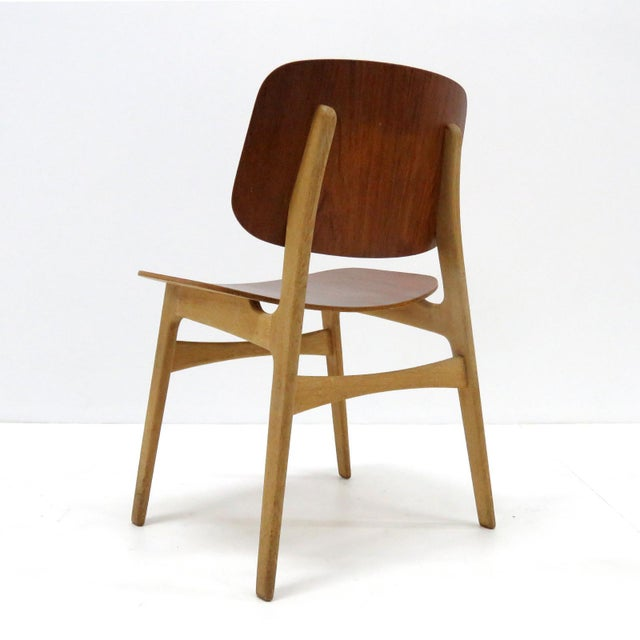 Mid-Century Modern Set of 5 Børge Mogensen Dining Chairs, 1950s For Sale - Image 3 of 13