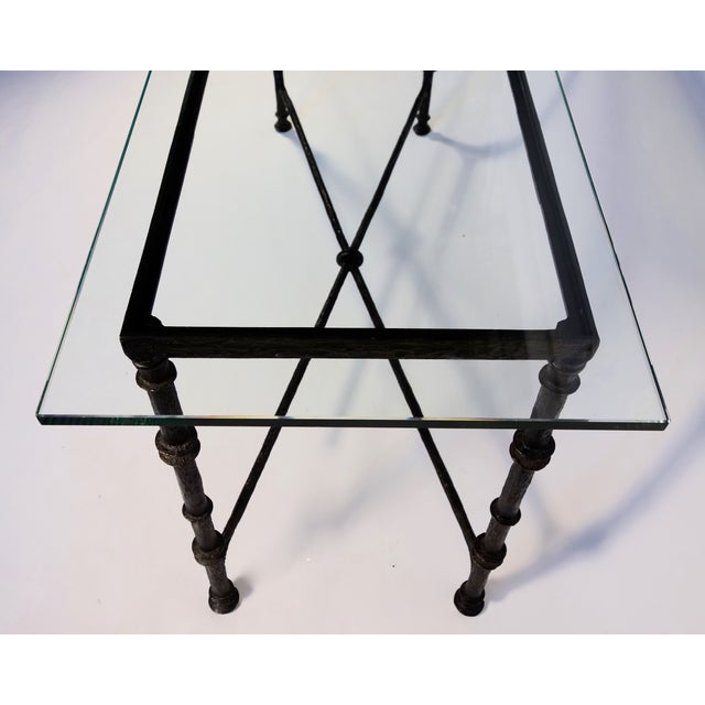 1980s Giacometti Style Wrought Iron Console Table For Sale - Image 5 of 8