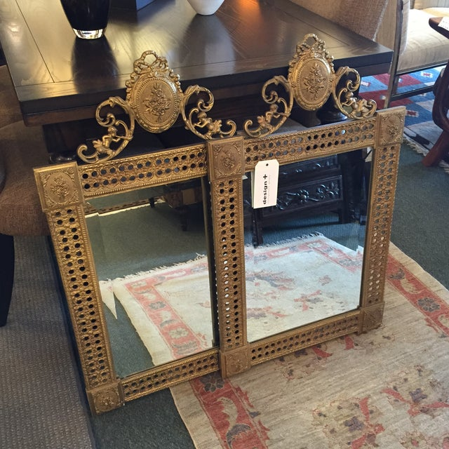 Gilded French Iron Mirrors - A Pair - Image 10 of 10