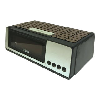 1960s Danish Modern Cosmo Digital Alarm Clock E-501