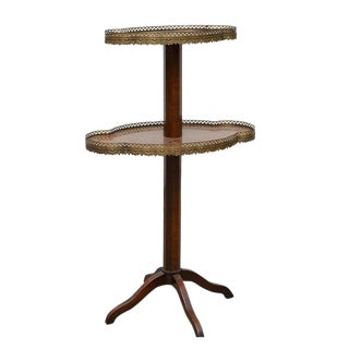 20th Century Louis XV Gilt-Metal Mounted Kingwood Two-Tier Side Table For Sale