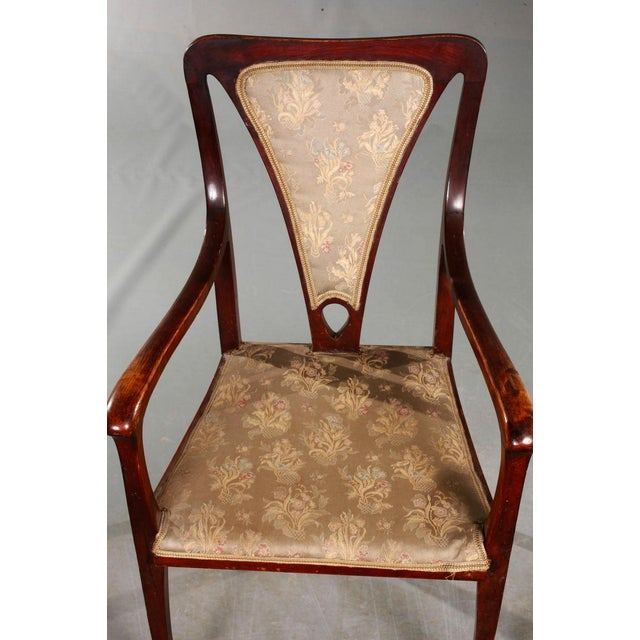 Art & Craft Armchairs England Around 1900 For Sale - Image 4 of 5