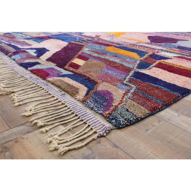 Contemporary Contemporary Berber Moroccan Postmodern Memphis Style Rug - 8′10″ × 12′11″ For Sale - Image 3 of 8