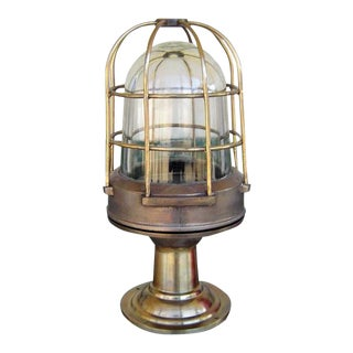 Vintage Brass Nautical Piling Light For Sale