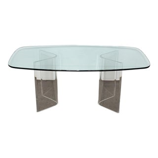 Mid-Century Modern Lucite Dining Table For Sale