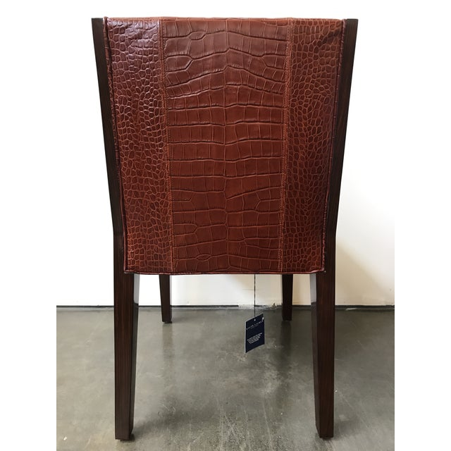 Ralph Lauren Home Modern Metropolis Leather Side Chair For Sale - Image 5 of 10