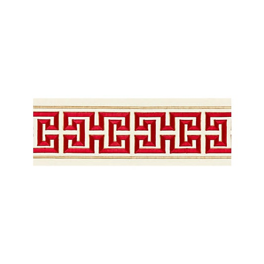 Traditional Scalamandre Imperial Embroidered Tape, Lacquer For Sale - Image 3 of 3