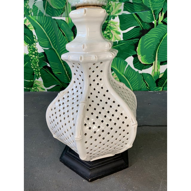 Mid-Century Modern Reticulated Ceramic Floor Lamp Table by Nardini For Sale - Image 3 of 6