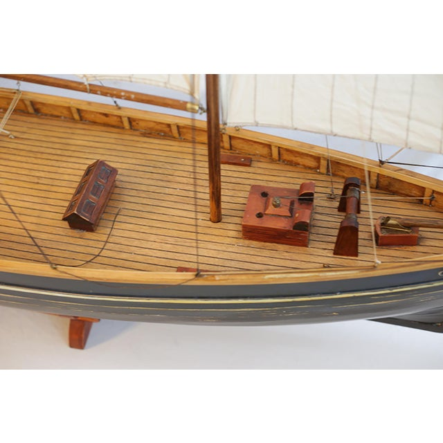 Early 20th C. Monumental Ship Model C. 1940 For Sale - Image 9 of 12