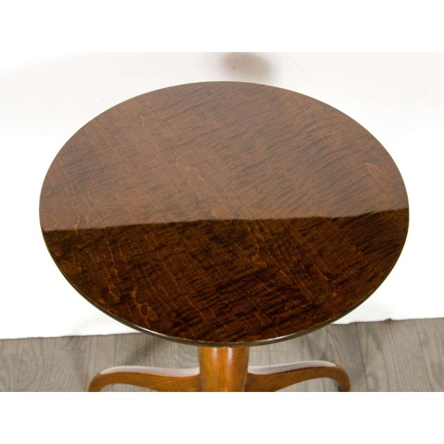 Mid-Century Modern Mid-Century Modernist Burled Walnut Tripod Table by Ian Ingersoll For Sale - Image 3 of 6
